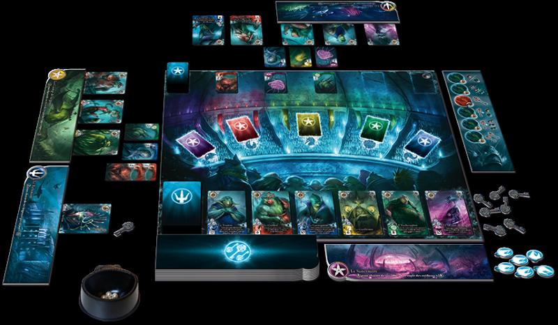 Componentes do jogo Abyss