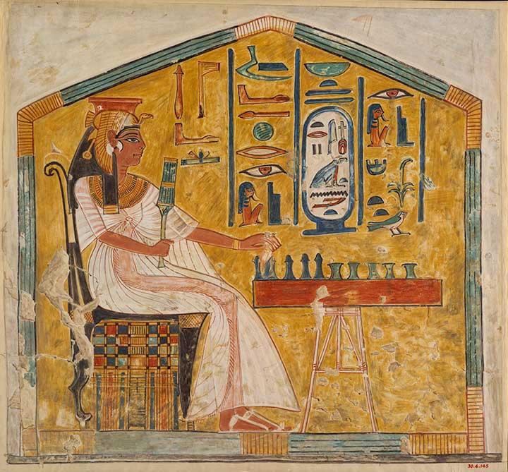 Rainha Nefertari (1290 - 1255 a.C.) jogando Senet